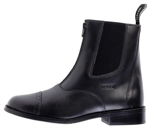 Toggi Augusta Child's Zip-up Leather Jodhpur Boot In Black, Size: 3