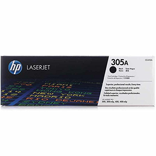 HP 305A (CE410A) Black Original Toner Cartridge for HP LaserJet Pro 400 Color MFP M451nw M451dn M451dw, Pro 300 Color MFP M375nw -