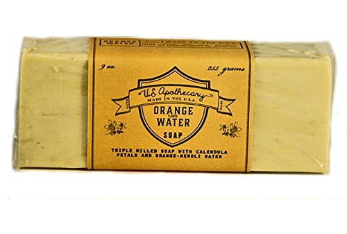 U.S. Apothecary Orange Flower Water Triple Milled Bar Soap 9 oz/255g by k hall