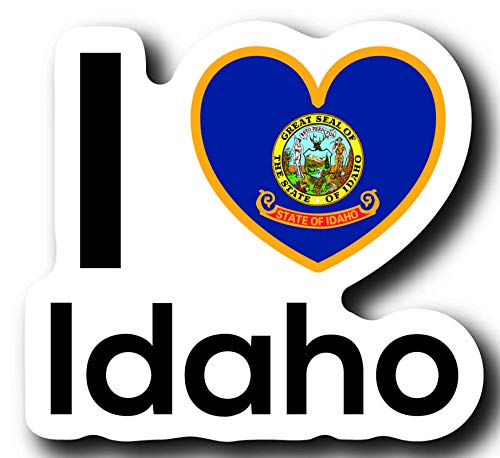 Love Idaho State Decal Sticker Home Pride Travel Car Truck Van Bumper Window Laptop Cup Wall - One 5 Inch Decal - MKS0012 ()
