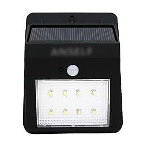 Environmental-friendly Water-proof Solar Power Lamp 8 LED PIR Motion Sensor Light for Pathway Outdoor Stair Garden Yard