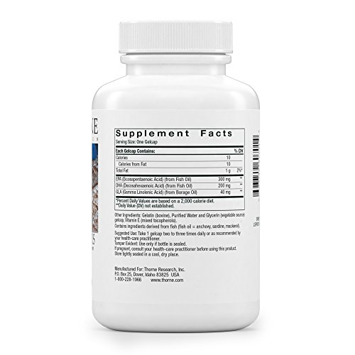 Thorne Research - Omega Plus - An Essential Fatty Acid Supplement with Omega-3 and Omega-6 - EPA, DHA, and GLA - 90 Gelcaps by Thorne Research (Image #7)