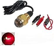 """Pevor Drain Plug Light 12V Underwater Boat Bright LED 1/2"""" NPT for Fi"""