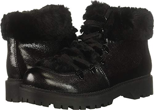 Circus by Sam Edelman Women's Kilbourn Fashion Boot, Black/Metallic Smooth Atanado Veg/Lobo Fur, 9 M US -