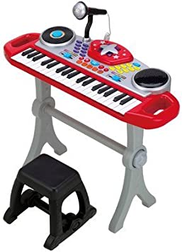 winfun- Teclado Rock Star Beat Bop, Color Rojo (CPA Toy Group 7302068)