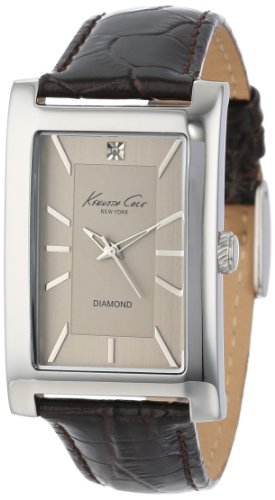 Kenneth Cole New York Men's KC1984 Rock Out Silver Dial Diamond Dial Analog Strap Watch
