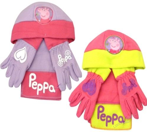 Peppa Pig Winter Warmer Set - Includes Hat, Scarf and Gloves! (Set Peppa's Christmas)