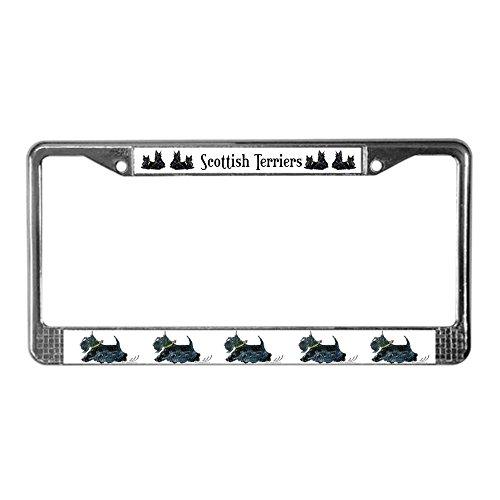 CafePress Scottish Terrier License Plat License Plate Frame Chrome License Plate Frame, License Tag Holder