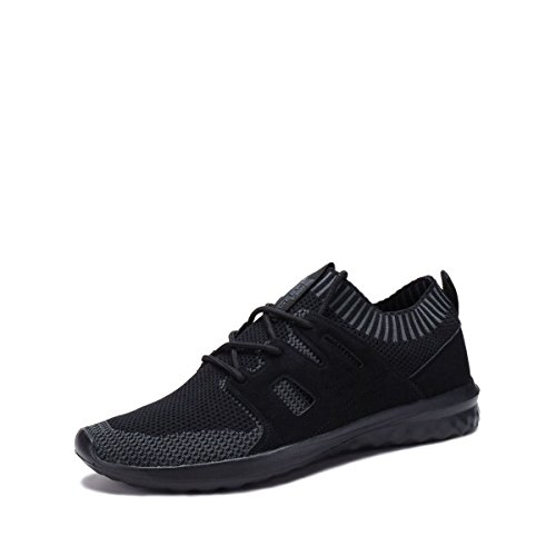 DreamSeek (3633M) Fashion Breathable Sneakers Sport Running Shoes All Black H1l2XiO