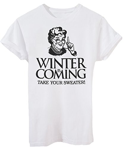 T-Shirt WINTER IS COMING NONNA - DIVERTENTI - by iMage - Uomo-M-Bianca