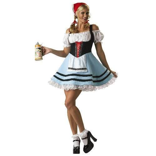 Oktoberfest Girl Costume - Large - Dress Size 10-14 (Adult Gretel Costume)