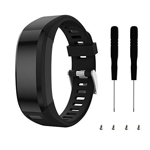 Ibande Compatible Garmin Vivosmart HR Watch Band, Accessories Adjustable Soft Silicone Replacement Wrist Watch Strap Designed for Garmin Vivosmart HR Smart Sport Watch(NO for Vivosmart HR+)