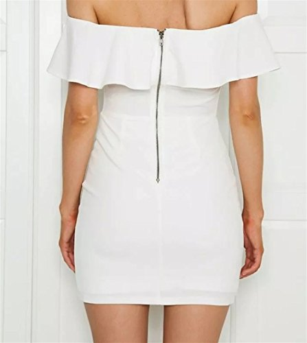 Robe Brode Robe pour Halter brod Les Mode Volants Bustier Weekendy Robe White Robe Femmes tHU8qwIn