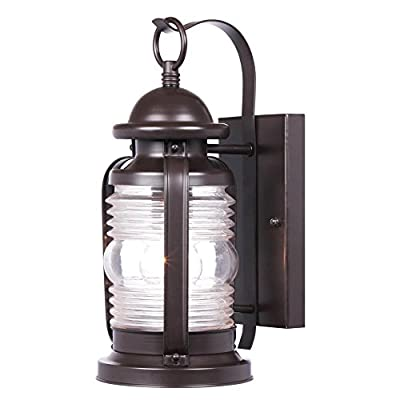 Weatherby One-Light Outdoor Wall Fixture, Weathered Bronze Finish with Clear Glass