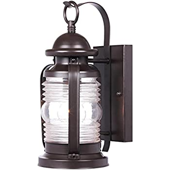 Westinghouse 6230100 Weatherby One Light Exterior Wall Lantern Weathered Bronze Finish On Steel