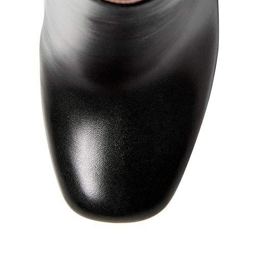 Cm Talon tanches Noir Fermetures Bottes Pu 15 Cuir Talons Style Et En Femmes Bottines Compense Pour Glissire Talon Hauts Classique Semelle De hauteur Haut Latrales Avec Du p4RYTwx