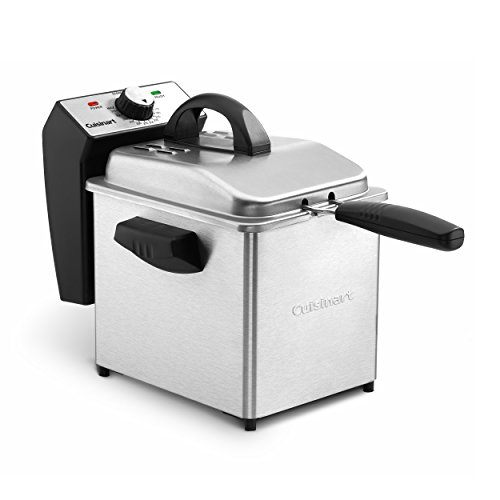 Cuisinart CDF-130 Compact Deep Fryer, 2 quart, Stainless Steel (Best Small Deep Fryer)