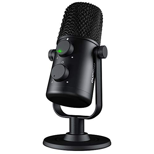 USB Microphone MAONO AU-902 Cardioid Condenser Podcast Mic with Dual Volume Control, Mute Button, Monitor Headphone Jack, Plug and Play for Vocal, YouTube, Livestream, Recording, Gaming