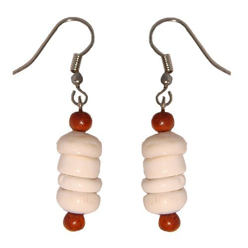 Beads Accent Shell Earrings - 4