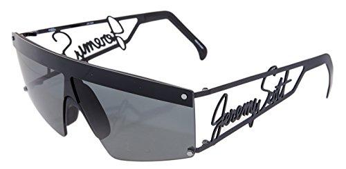 3f0156f6e907 LINDA FARROW Jeremy Scott SIGNATURE Visor Black Mirrored Sunglasses JS16