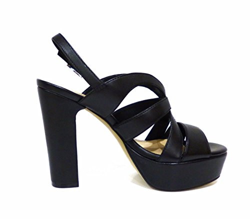 Bruno Premi K2503N sandali donna neri in pelle tacco alto e plateau