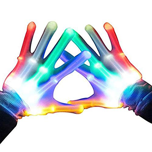 ATOPDREAM Gifts for Teen Girls, TOPTOY Flashing LED Gloves Gift Ideas for Teen Boys Girls Autism Cool Toys for 3-12 Years Old Boys Girls -