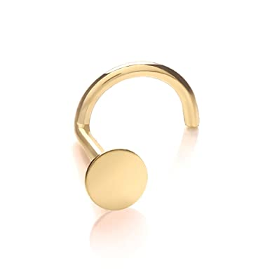line stud disc gold style your cheap at steel shopping surgical find flat plated ring choose nose deals on guides