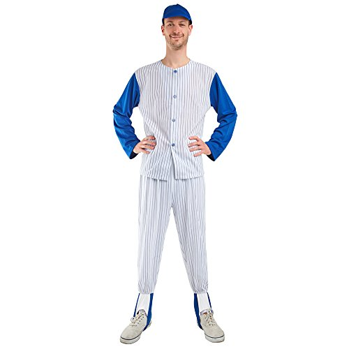 [Adult Baseball Player Costume One Size Most] (Baseball Player Costumes Women)