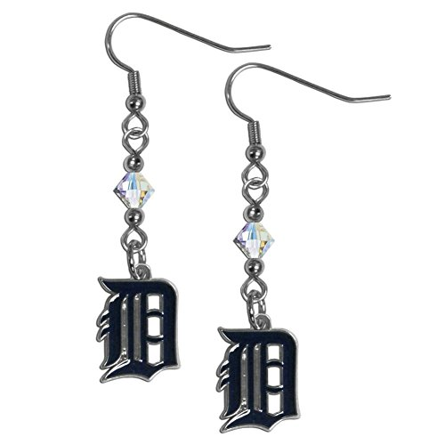 [MLB Detroit Tigers Crystal Dangle Earrings] (Mlb Jewelry)