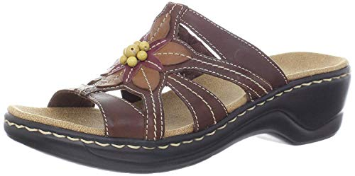 Clarks Women's Lexi Myrtle Sandal, Brown, 8.5 B - Medium
