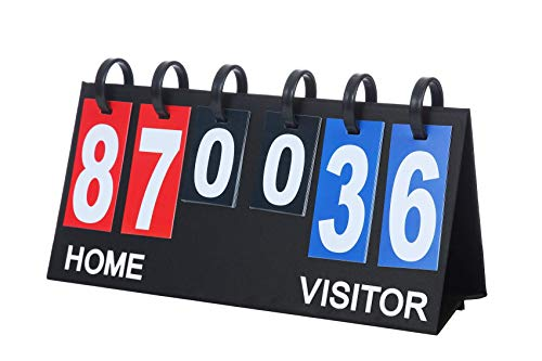 Upstreet Portable Scoreboard - Lightweight and Durable - Ideal Score Flipper for Football, Basketball, Volleyball, Baseball & Tennis - Flips a Score from 1 to 99, Multicolor