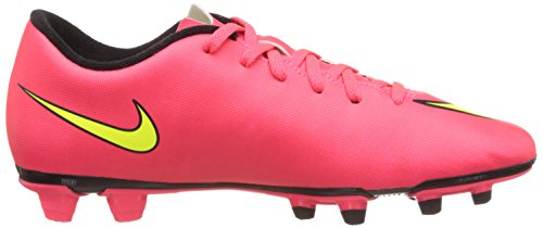 Nike Mens Mercurial Vortex Fg Calcio Cleat Hyper Punch / Nero / Volt / Moneta Doro Metallizzata