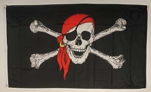 Pañuelo para la cabeza pirata con bandera de formato grande 250 x 150 cm bandera resistente a la intemperie