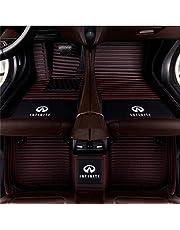 Custom Car Floor Mats for Infiniti Q50 fx35 Custom Waterproof All Weather Leather Car Floor mat Logo Stripe