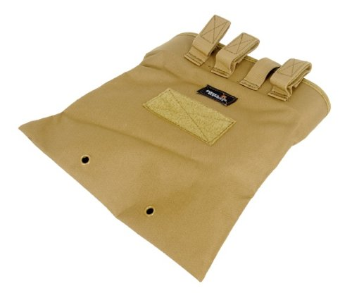 Lancer Tactical CA-341 Large Foldable Dump Tactical Airsoft Storage Pouch (Tan)