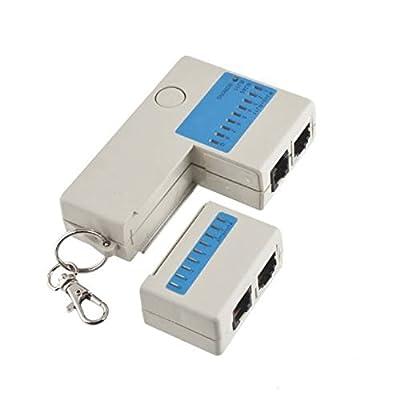 ILS - Mini RJ45 RJ11 Cat5 Network LAN Cable Tester White