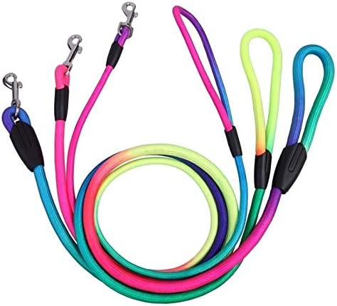 NO LOGO QXP-ZYP Une Laisse de Chien Corde en Nylon color/é avec r/éa de Traction Animal Marche 1.2M Laisse la Formation de Plomb Brut 3 Taille S Taille : 8mm