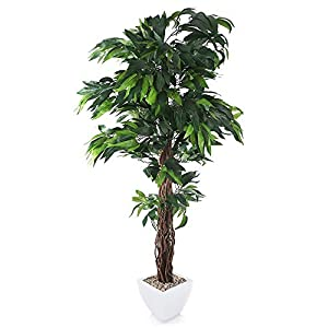 MARJON FlowersArtificial 6ft Mango Tree - Portofino Planter Not Included 70