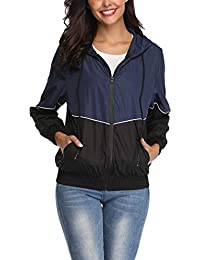 Rain Jacket Women Waterproof with Hood Windbreaker Outdoor Active Hiking Travel
