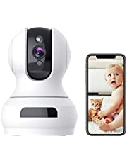 Indoor Camera,1080P Pan/Tilt Baby Monitor with Camera and Audio,Pet Camera with Sound/Motion Detection,Two-Way Audio,Night Vision,Cloud and Local Storage,WiFi Camera