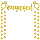 Engaged Banner Bunting Wedding ,Bridal Shower , Engagement Party Decoration Supplies, Favors(banner)