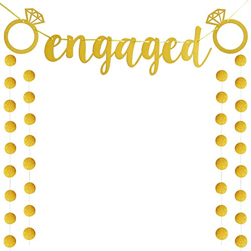 Engaged Banner Bunting Wedding ,Bridal Shower , Engagement Party Decoration Supplies, Favors(banner) -