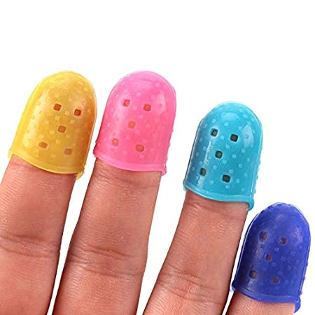 Sewing Tools Silicone Thimble Finger Protector for Stitching Sewing Needlework Tools Random Colors Color: 4Pcs of Each Size