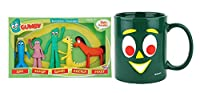 Gumby & Friends Bendable Figurines and Coffee Mug Set (2Pack)