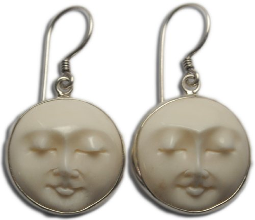 Moon Face Earrings Sterling Si