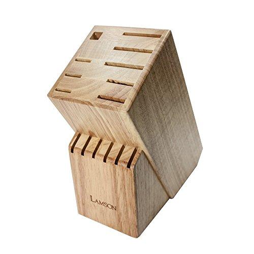 - Lamson TreeSpirit 15 Slot Maple Knife Block, Wood
