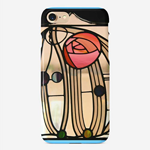 JIUYHG Personalize Compatible with iPhone 7 case/iphone 8 case Mackintosh Stained Glass Windowthe Hill House Super Slim Back Cover Hard Plastic Protector Case Design for Apple iPhone 7/8 4.7 inch
