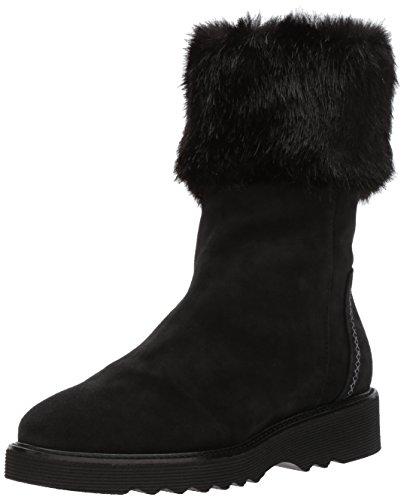 Aquatalia Women's Kelly Suede/Faux Fur, Black, 7.5 M M US