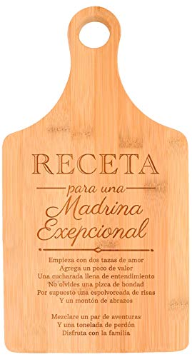 Regalos Para Madrina Receta Para Una Madrina Exepcional Godmother Paddle Shaped Bamboo Cutting Board