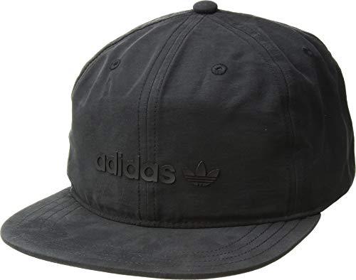 adidas Men's Originals Trefoil Decon Snapback Cap, black/black, One Size